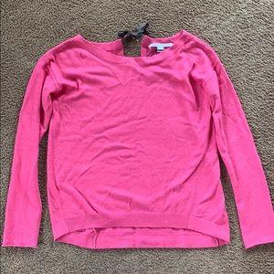 Diane von furstenberg pink top with bow on back